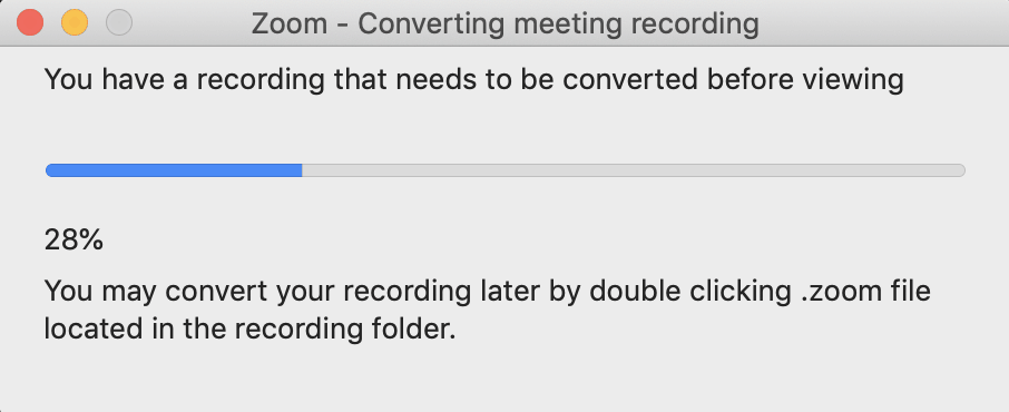zoom file converting