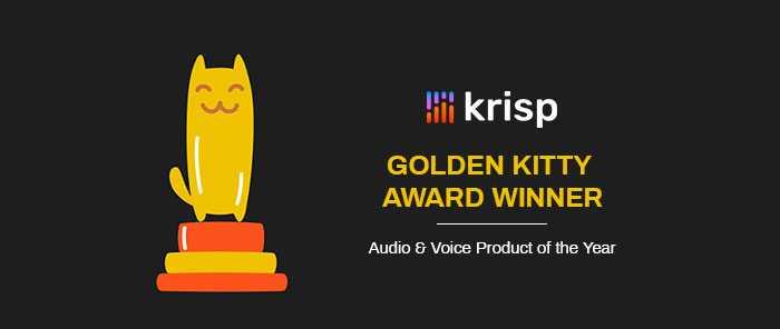 Krisp Won a Golden Kitty Award on Product Hunt!