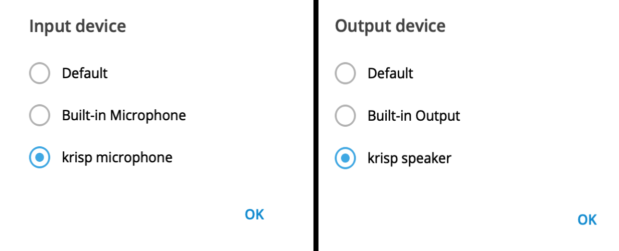 krisp microphone and speaker