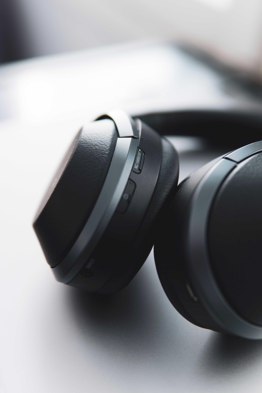 noise cancelling headphones close-up