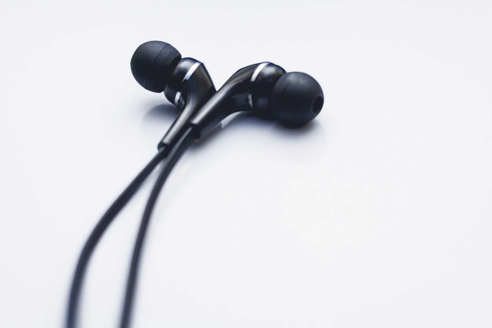 in-ear headphones or earbuds or earphones