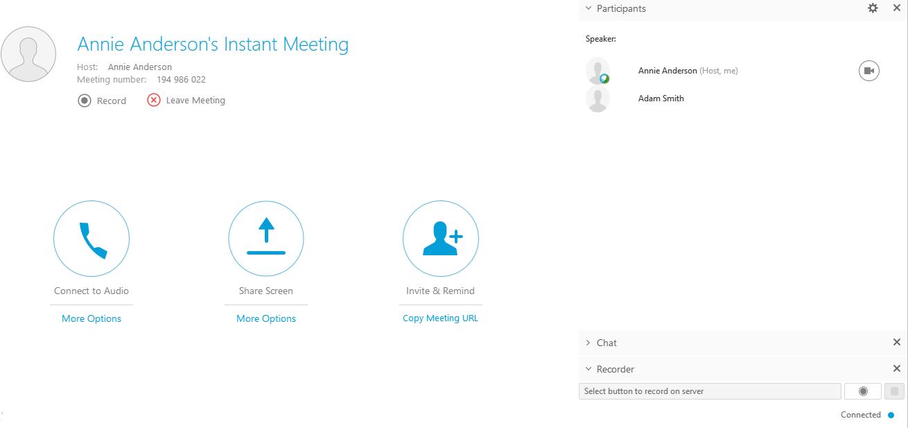 webex call screen