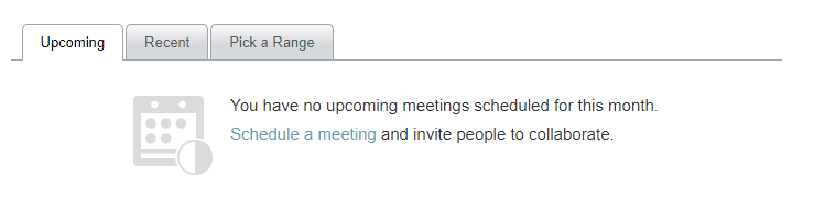 webex meetings section