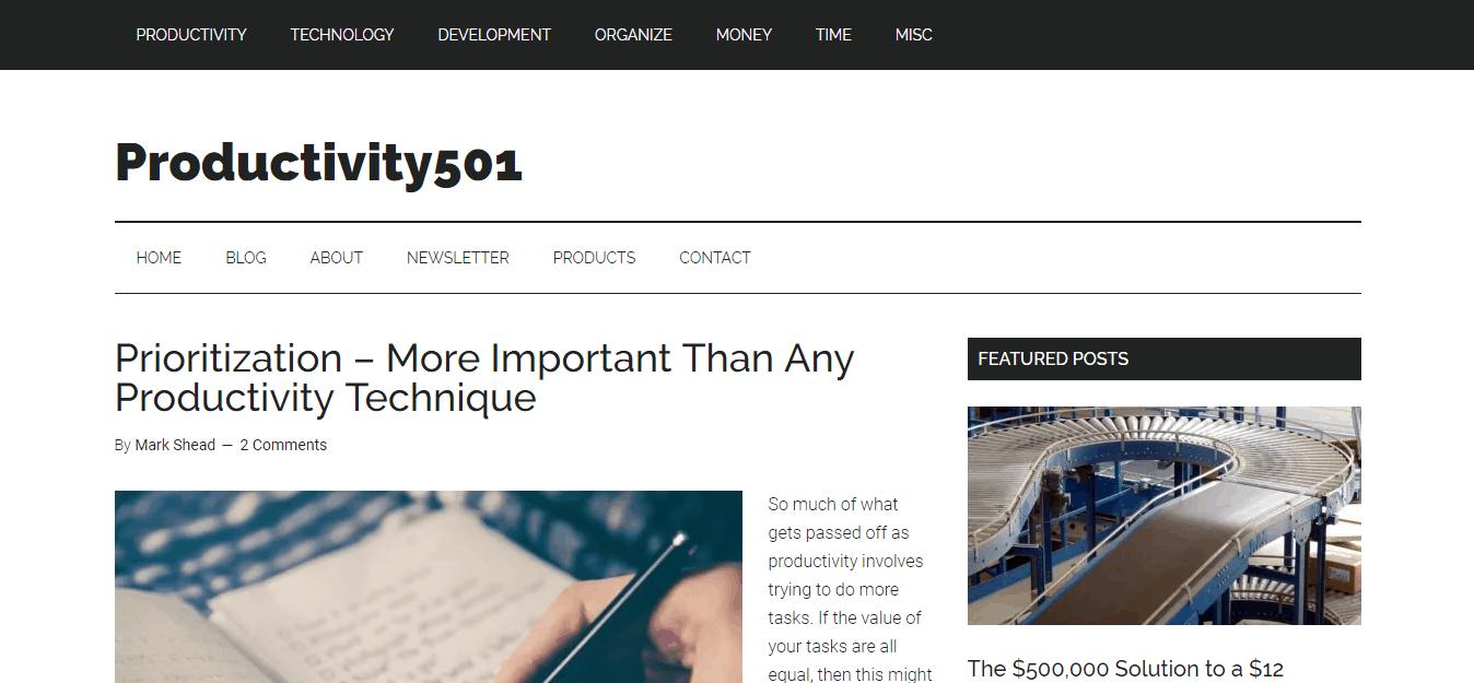 productivity501 blog
