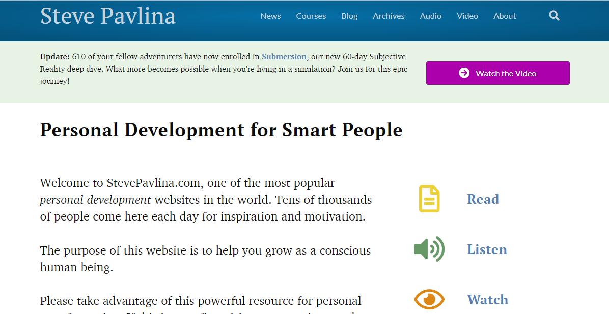 stevepavlina productivity blog