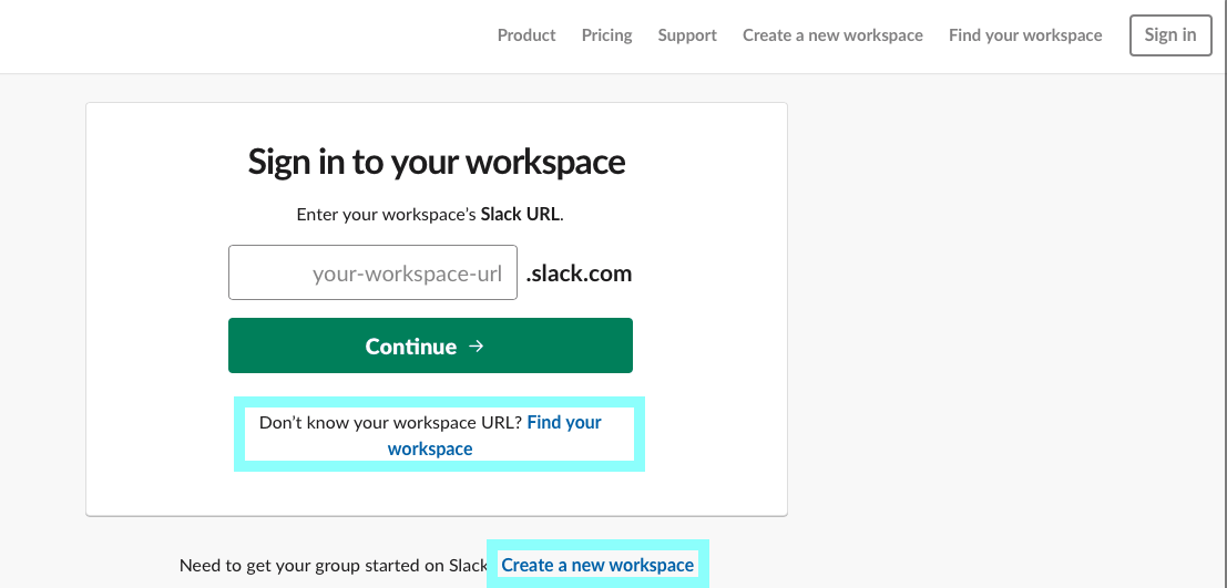 workspaces in slack