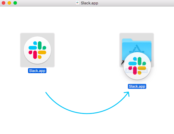 move slack to applications folder