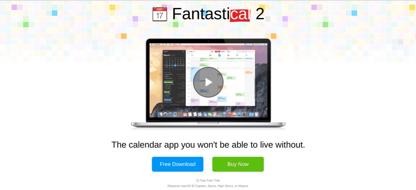 fantastical mac apps