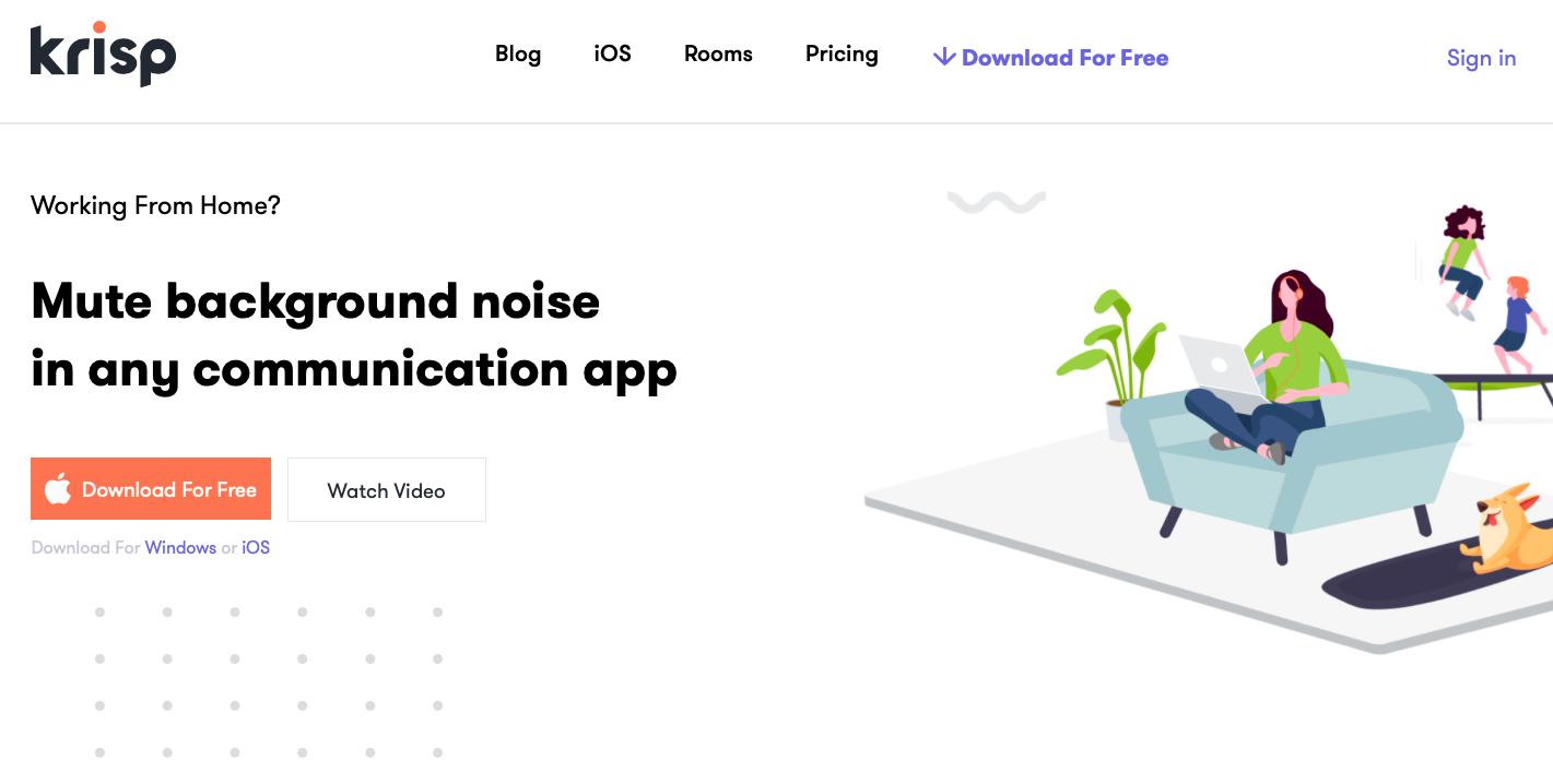Krisp noise cancelling app
