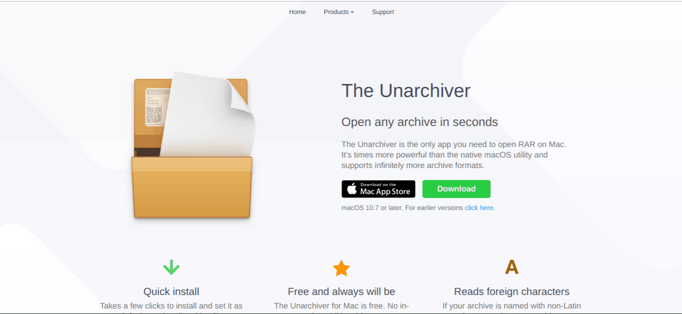 unarchiver free applications for mac