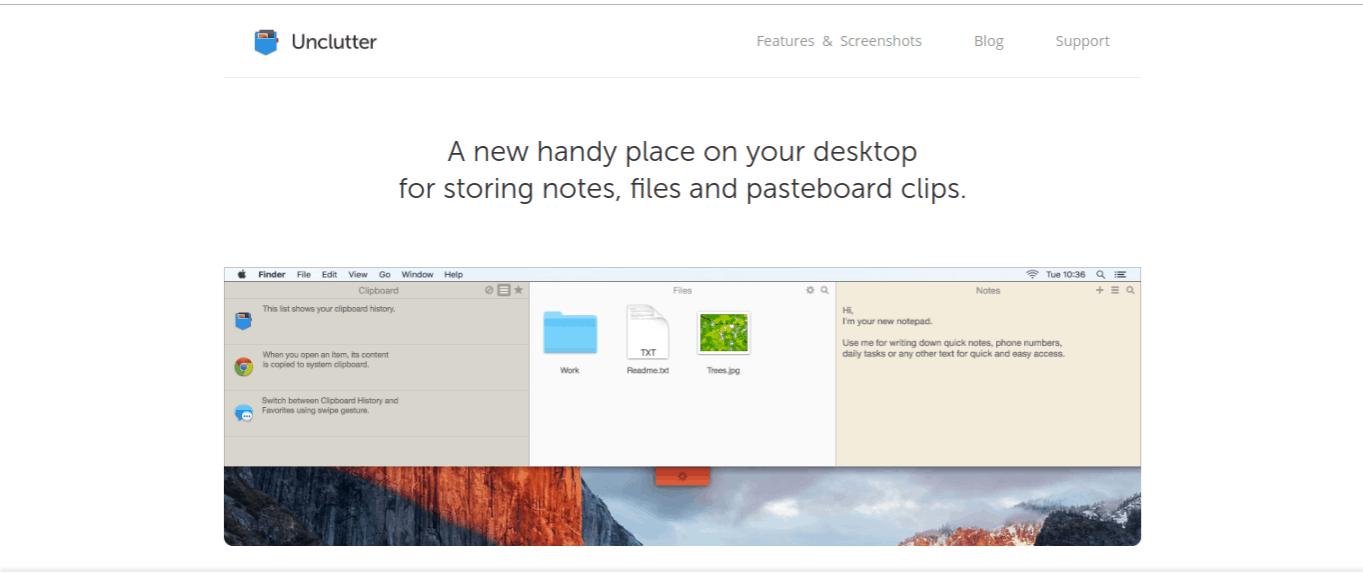 unclutter best mac apps