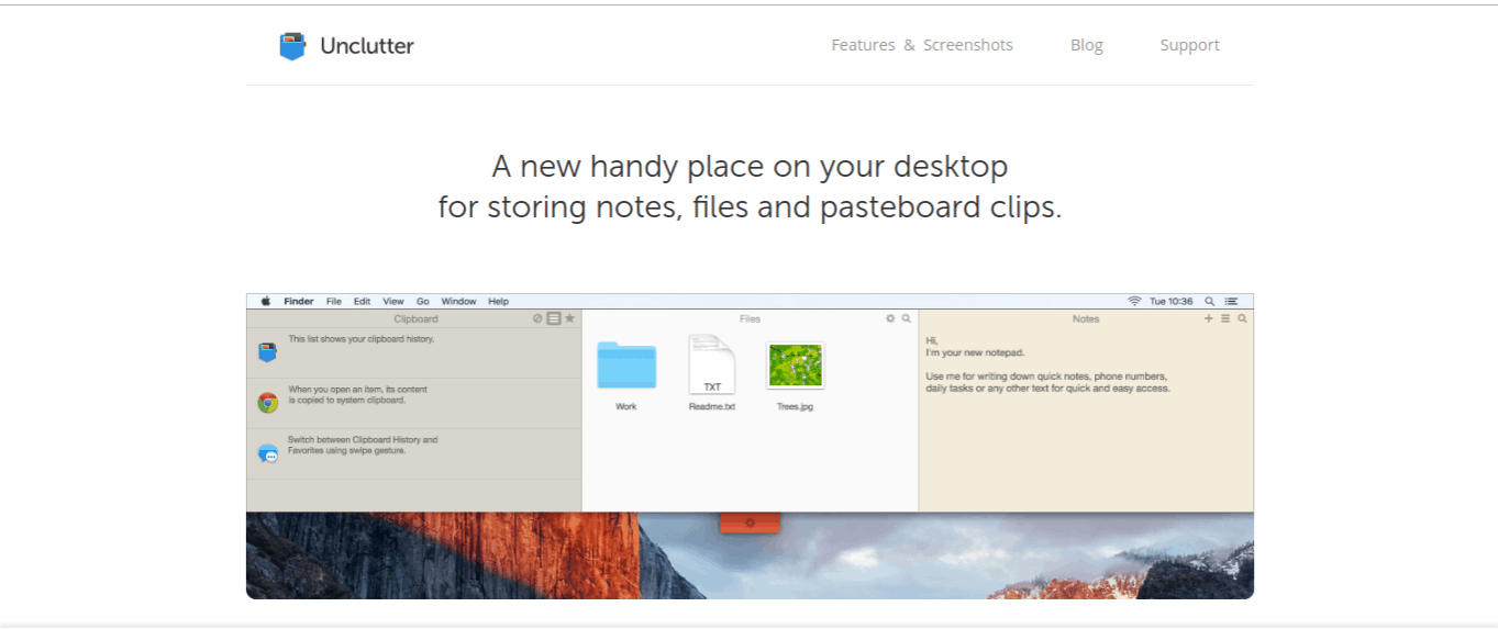 unclutter mac apps