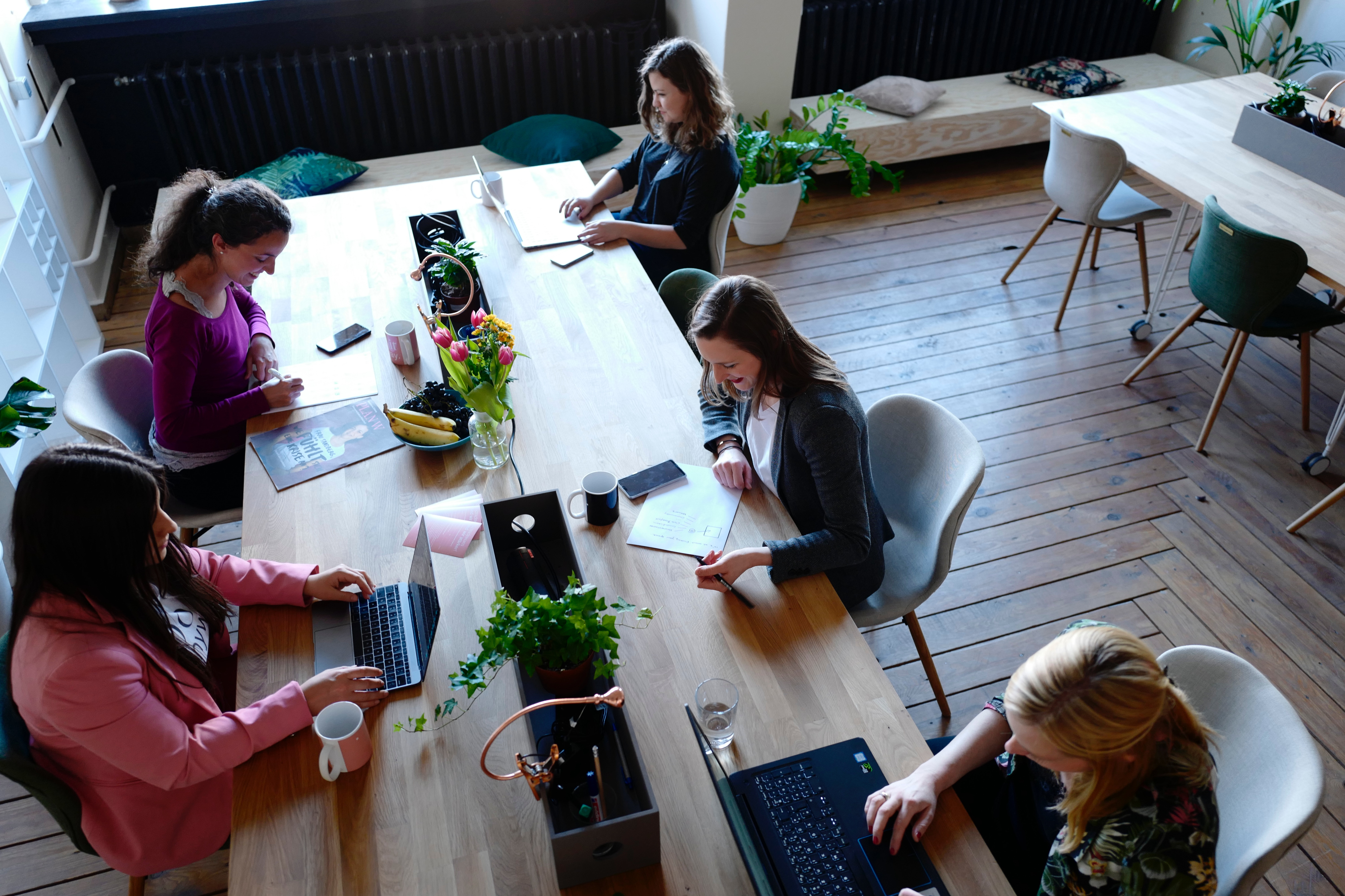 women coworking with each other