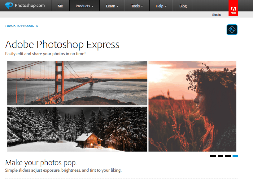 adobe photoshop express program