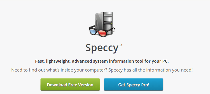 speccy free windows programs
