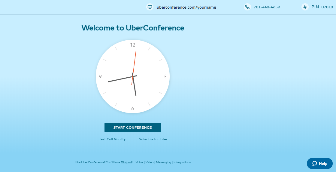 welcome to uberconference