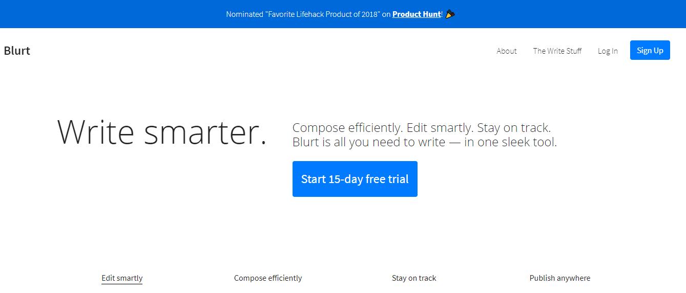 blurt productivity apps