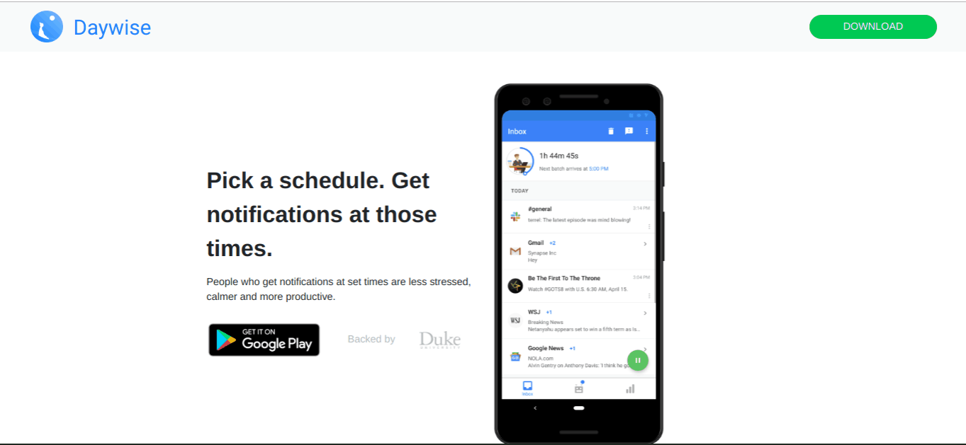 daywise productivity apps