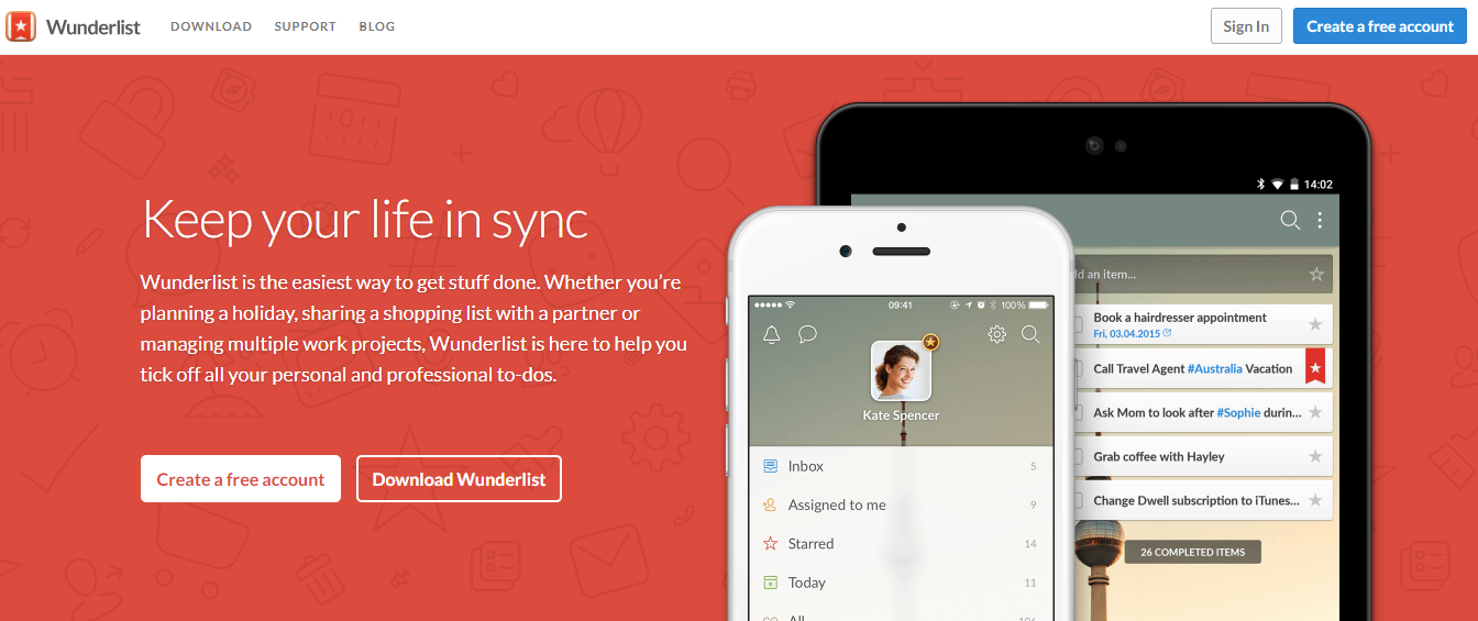 wunderlist productivity