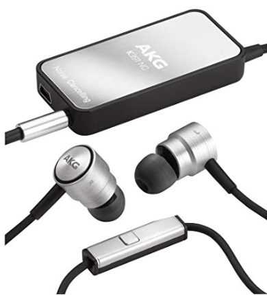 akg k391nc in-ear noise cancelling headphones