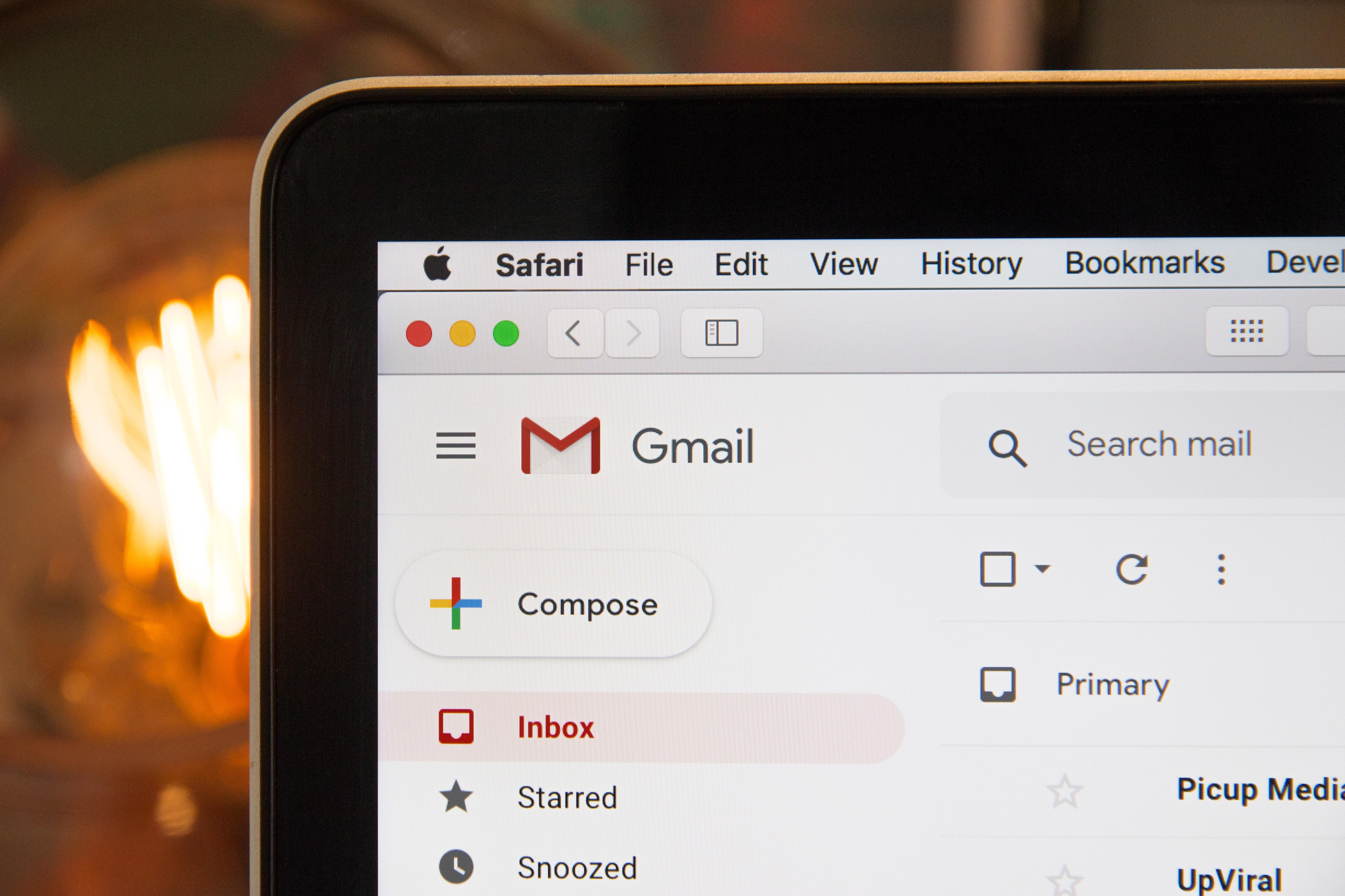 email sending mac