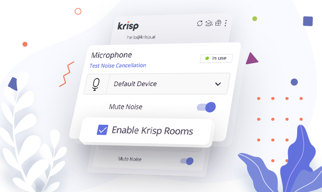 Krisp Rooms Interface