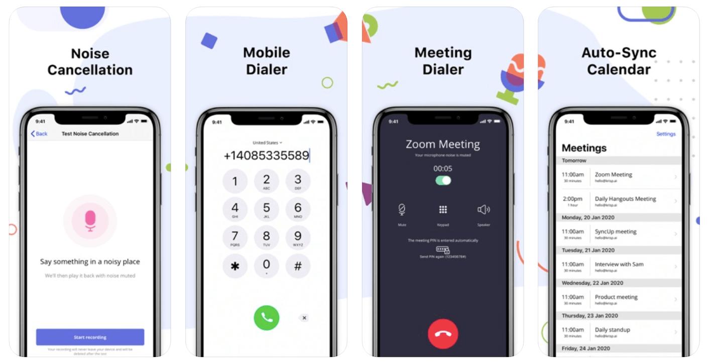 krisp iPhone noise cancelling app