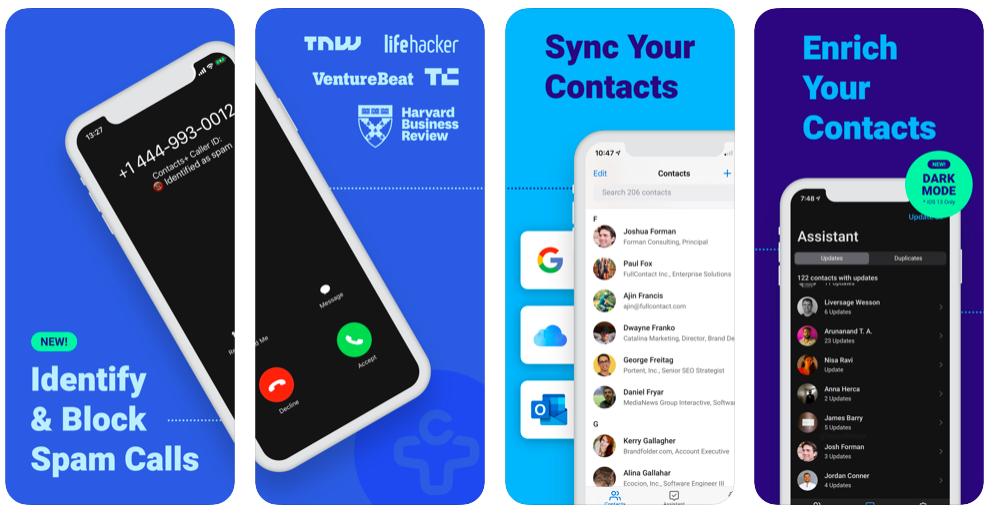 contacts+ app
