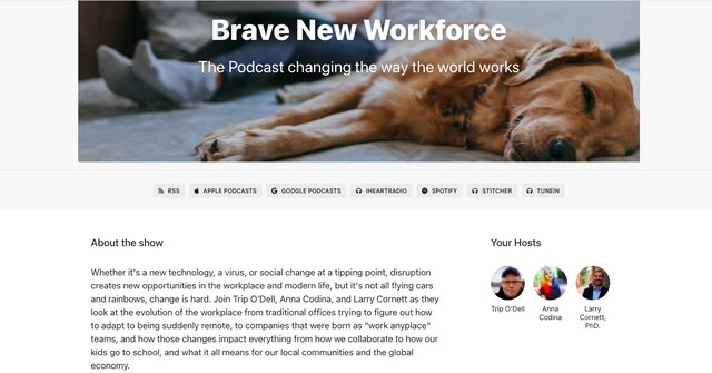 Brave New Workforce podcast for remote work