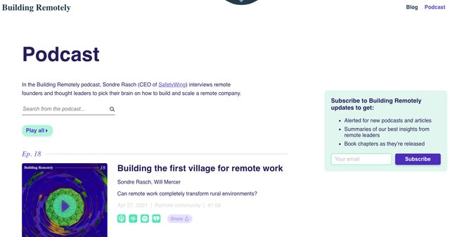 Building Remotely podcast