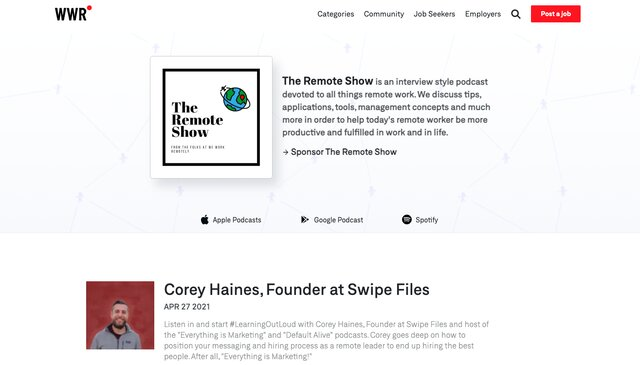 the remote show podcast