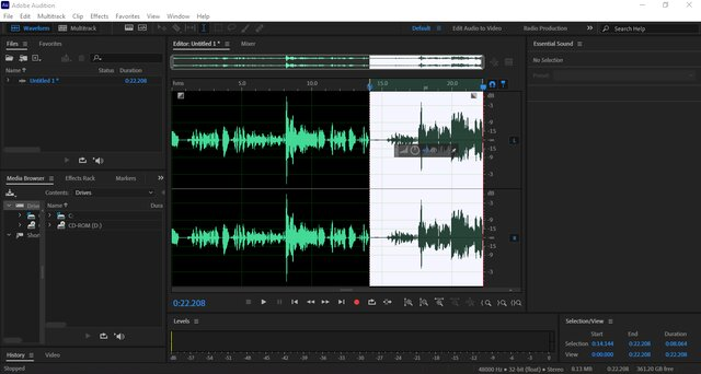adobe audition podcast recording tool for audio snippets and sounds