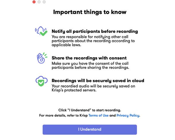 recording important
