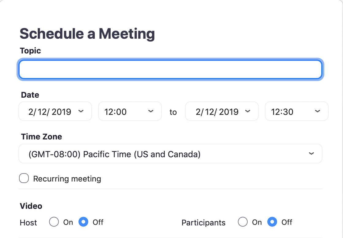 zoom schedule a meeting