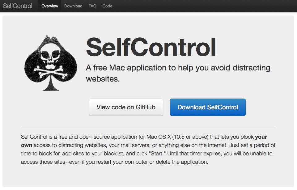 selfcontrol app for mac