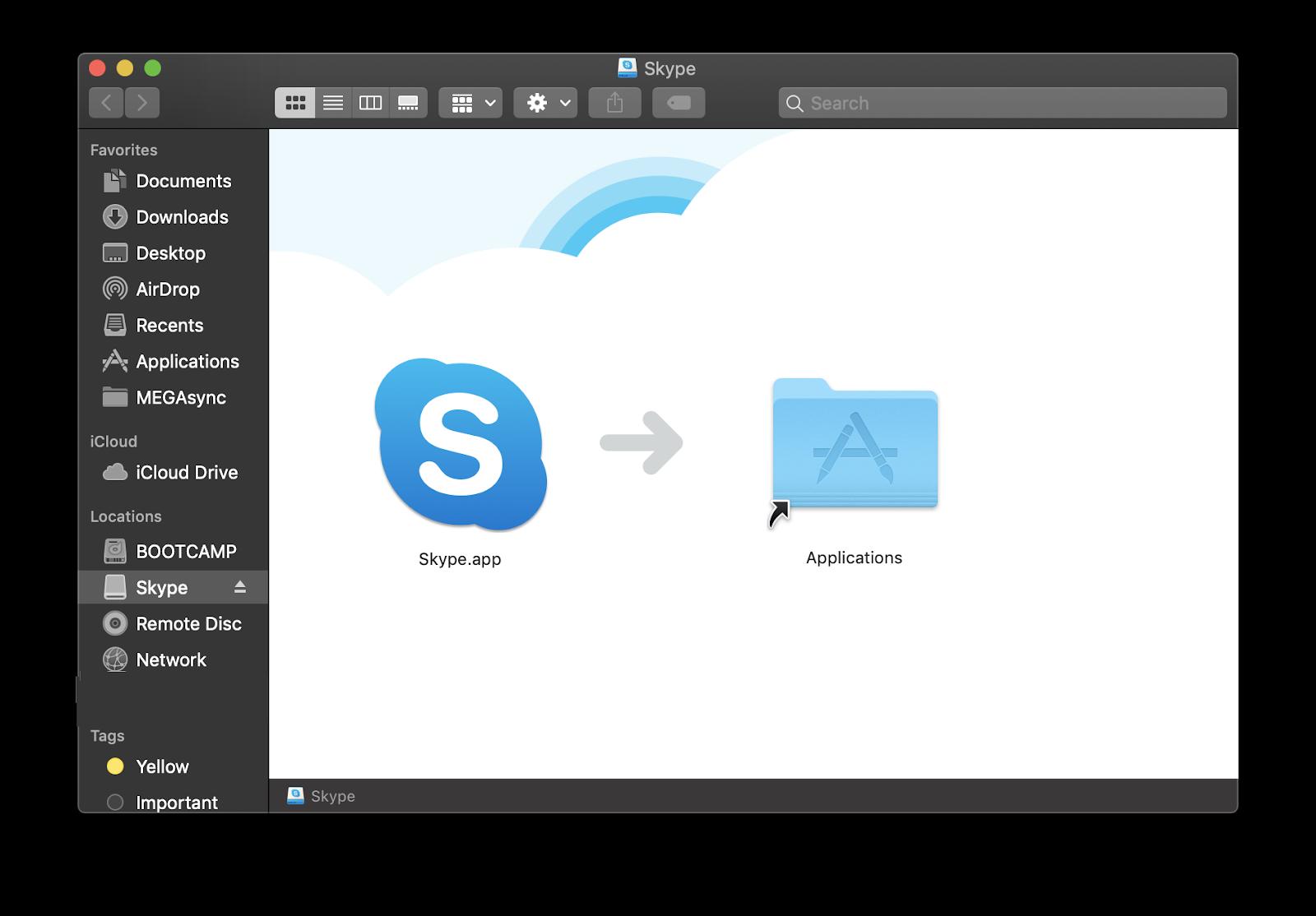 skype applications folder