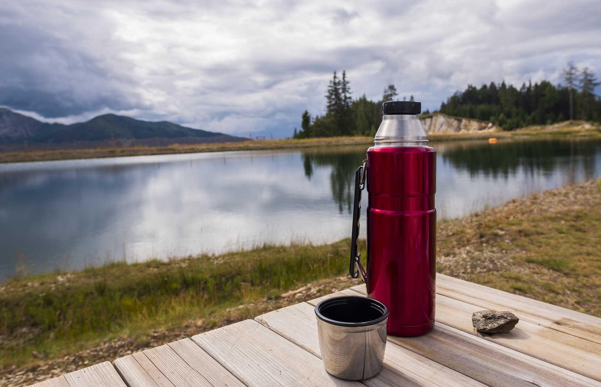 digital nomad thermal mug in nature
