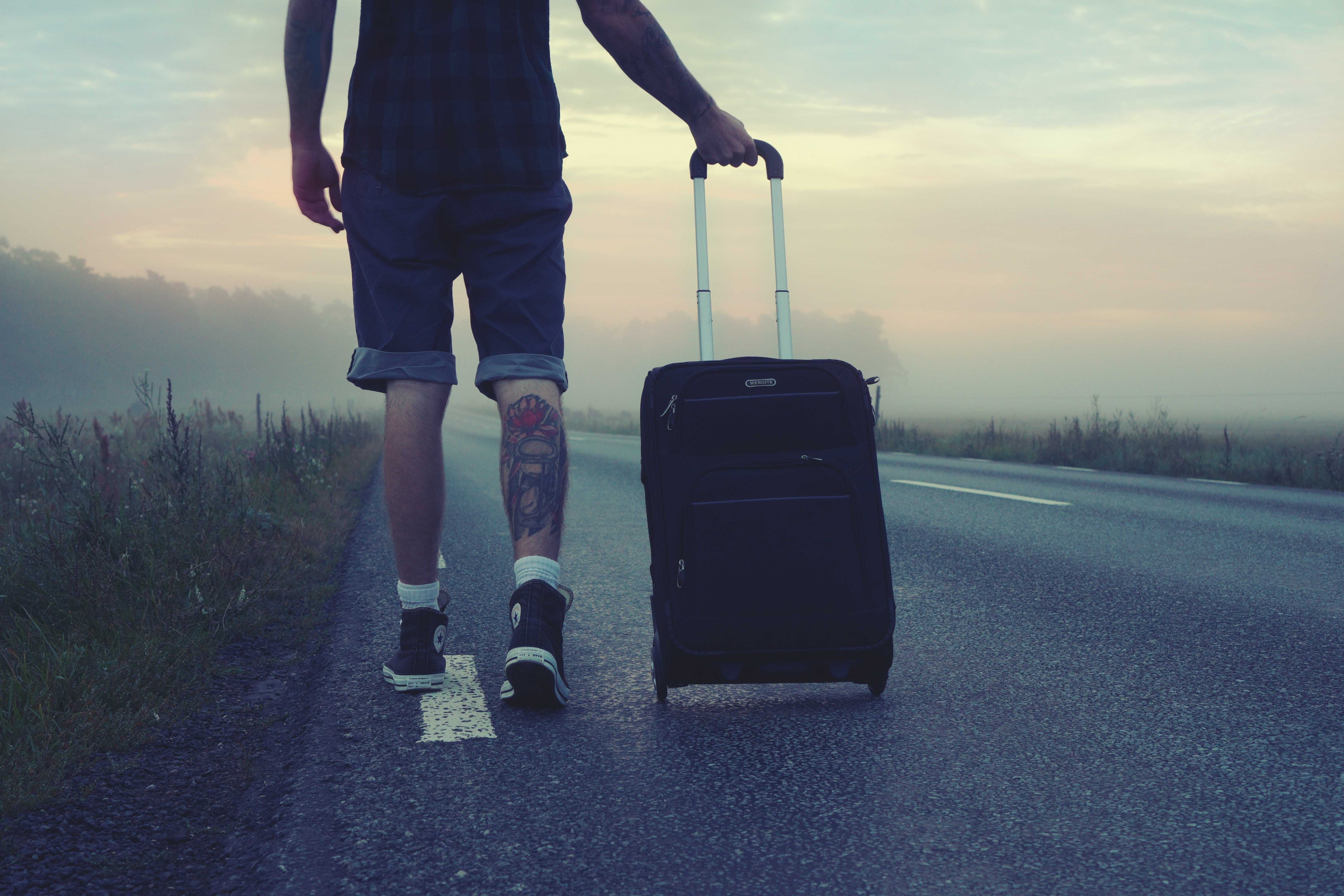 digital nomad with a suitcase